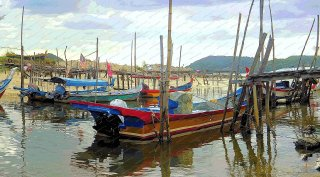 fishing-boats-senari-bay-langkawe-malaysia